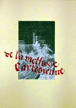 Photo: Monotype à la gouache, puis calligraphie fraktur à la gouache aussi à cheval sur un cadre. -- Monotype with gouache, then fraktur calligraphy with gouache also mounted on a frame.