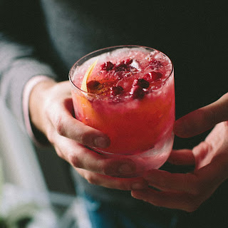 Cranberry-Ginger Whiskey Smash.