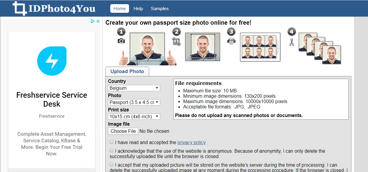 Review Make Passport Photo Online Free With Idphoto4you Passport Photo Online