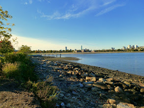 Photo: View from Old Harbor Park to Boston.