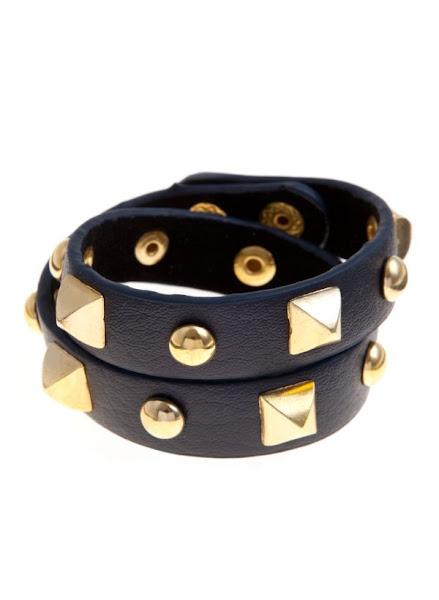 Photo: Black Gold Studded Wrap Bracelet £4.99 http://bit.ly/OGYix0