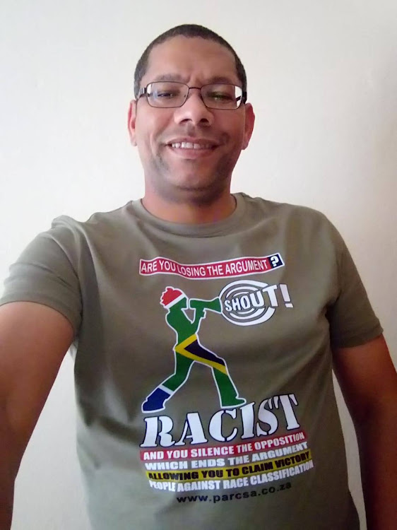 Glen Snyman, founder of People Against Race Classification.