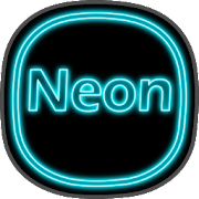 Neon icon pack ligth Blue theme  top to 2019
