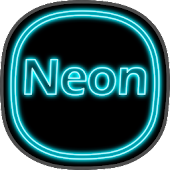Neon icon pack ligth Blue Icon