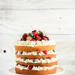 Mixed Berry Sponge Cake Recipe