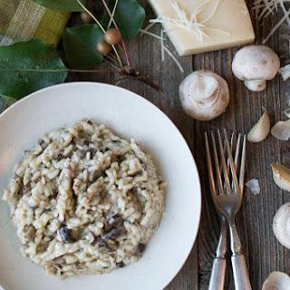 Tre Funghi Risotto with Truffle Oil.