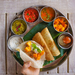 Gluten Free Indian Crepe with Coconut Chutney (Gluten & Dairy FREE).