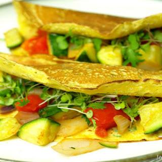 Easy Garden Veggie Protein Crepes [Vegan, Gluten-Free]