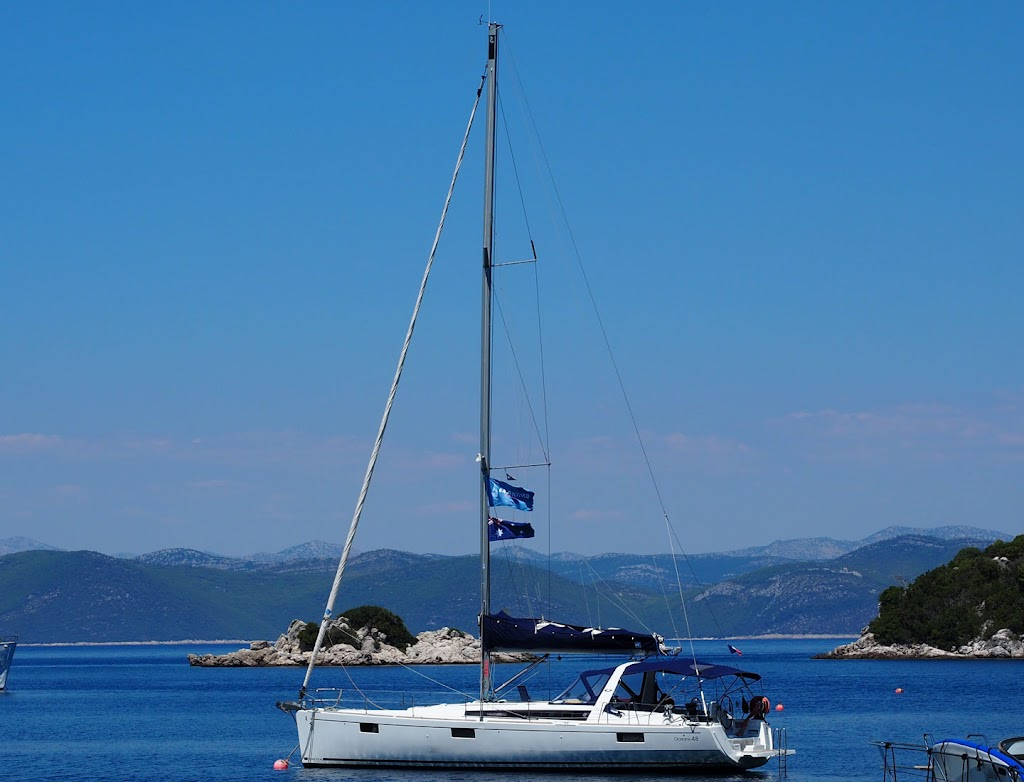 mljet croatia yacht at anchor