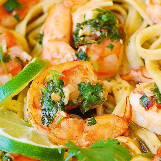 Cilantro-Lime Shrimp Pasta.