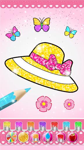 Glitter beauty coloring and drawing screenshot 2