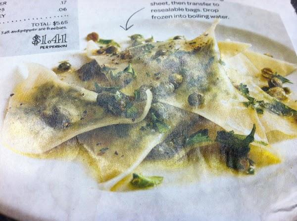 Spinach & Ricotta Ravioli Recipe