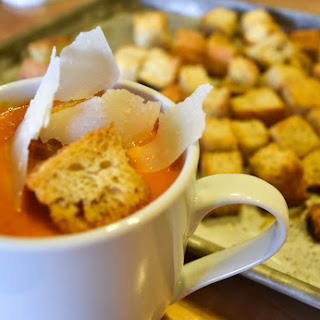 Tomato Soup with Brown Butter Croutons