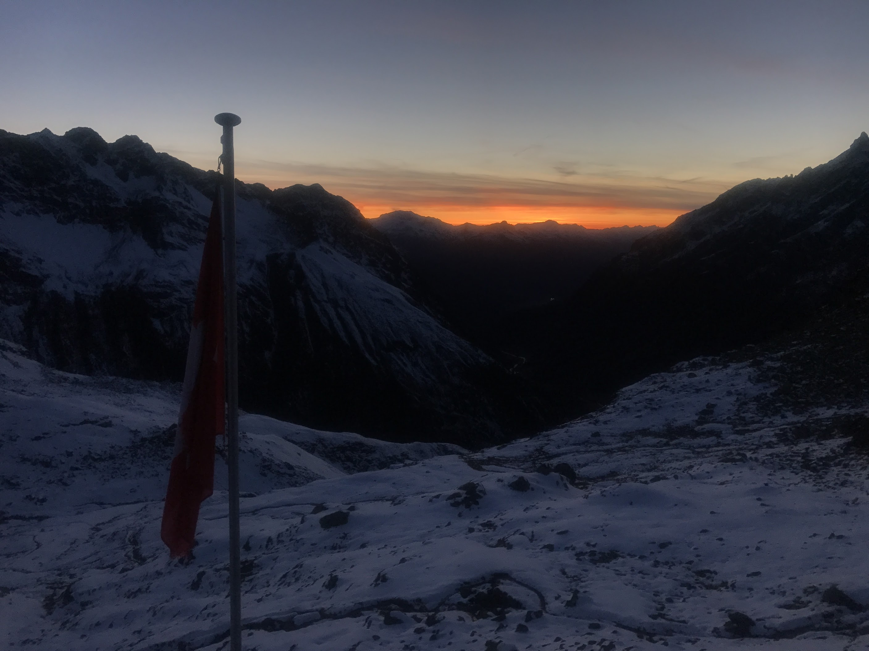 Wonderful sunset from the Silvretta hut