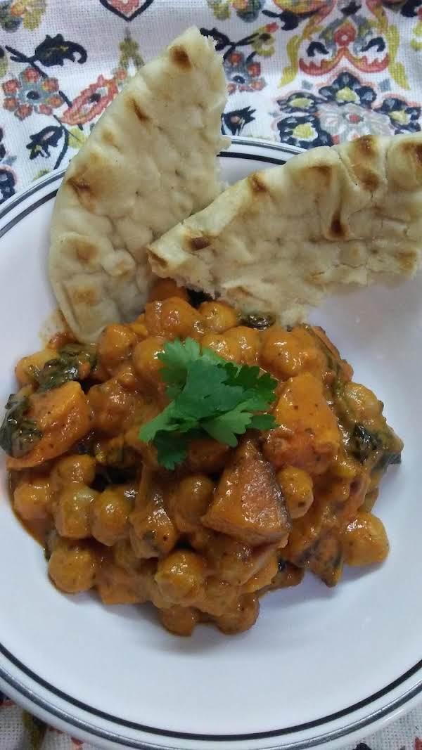 Roasted Sweet Potato,garbanzo,spinach Tikka Masala