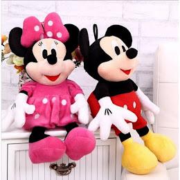 Jucarie din plus Minnie Mouse sau Mickey Mouse 30 cm
