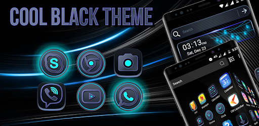 cool black launcher theme apps on google play