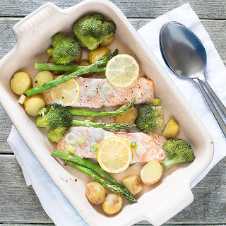 One-Tray Baked Salmon.