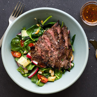 Thai Steak Salad With Summer Squash And Seared Scallions