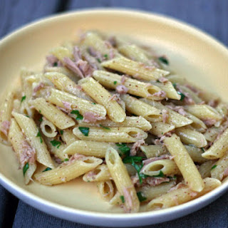 Penne with Tuna and Spicy Mustard.