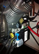 Photo: installation bobine+boitier injection