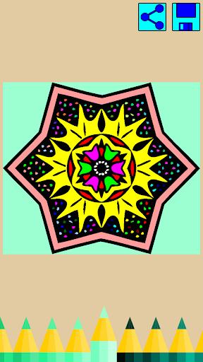 Coloring book: Mandala Flowers  screenshots 3