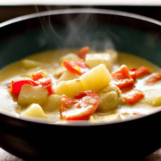 Coconut Chicken Curry Soup.