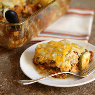 Calabacita Enchiladas with Red and Green Chile Recipe