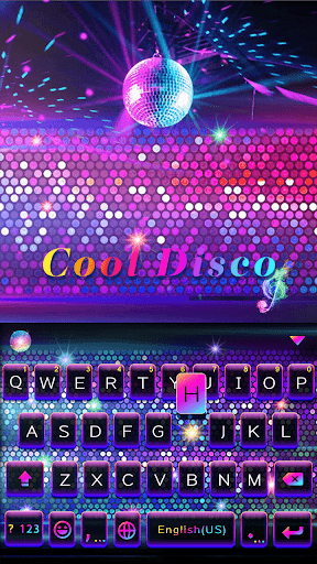 Cool Disco Keyboard Theme