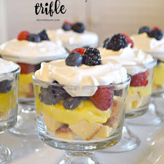 Mixed Berry Trifle.