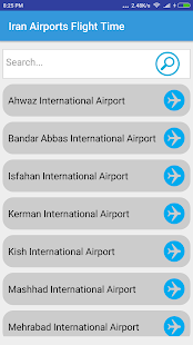Iran Airports Flight Time - náhled