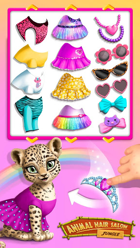 Jungle Animal Hair Salon - Styling Game for Kids 3.0.44 screenshots 1