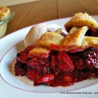 Balsamic Strawberry & Blackberry Pie