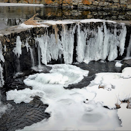 Frozen Waterfall by Corinne Hall - Nature Up Close Water (  )