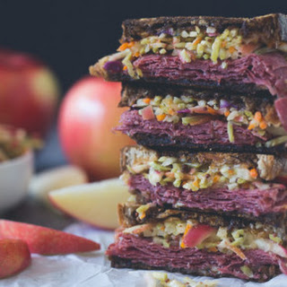 Tangy Apple Slaw Corned Beef Reuben