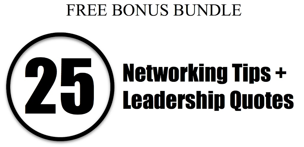 25 Networking Tips & 25 Leadership Quotes image