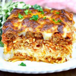 Million Dollar Spaghetti Casserole.