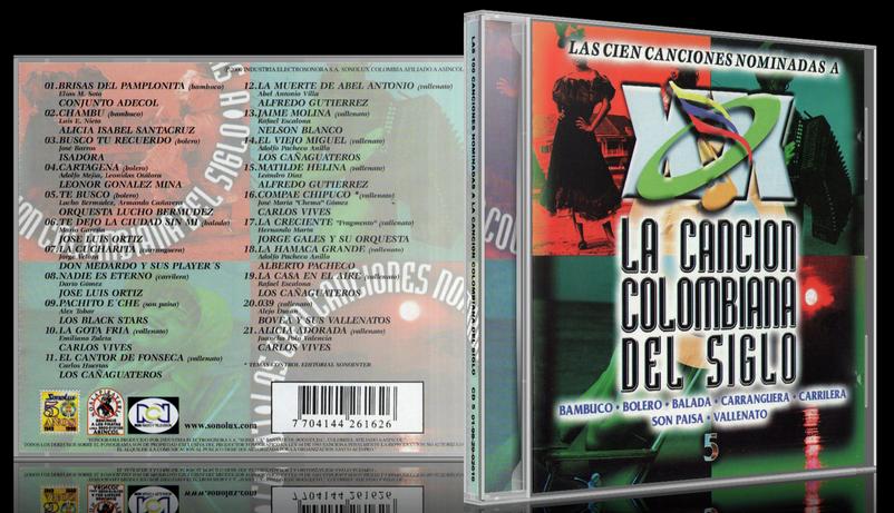 Varios Artistas - Las 100 Canciones Nominadas A La Canción Colombiana Del Siglo CD 5 (2000) [MP3 @320 Kbps]