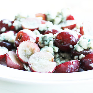 Grapes and Blue Cheese with Honey Drizzles.