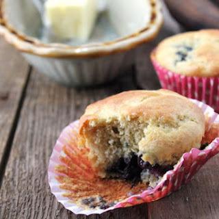 Gluten-free Blueberry Banana Muffins.
