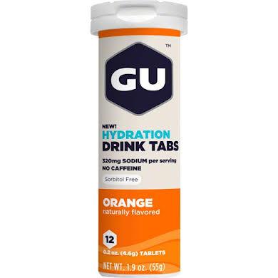 GU Hydration Drink Tabs: Orange, Box of 8 Tubes