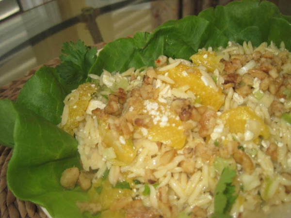 Blue Cheese, Candied Walnut And Citrus Orzo Salad Recipe