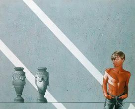 """Photo: """"Hervé dans un cénotaphe"""", 1979, acrylique sur toile"""