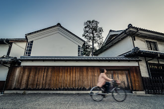 Photo: Ride Through The Bikan  Sometimes getting low in a shot allows you to get a unique vantage point and thus a unique photo. However, getting low can be tough on occasion. Thankfully along the canal of the Bikan District in Kurashiki, there's a little place you can stand that's lower than the main walkway, which is where I took this from. Always nice when you can get the shot without being in someone's way (or having to lay across the ground)!  Blog post: http://lestaylorphoto.com/ride-through-the-bikan/