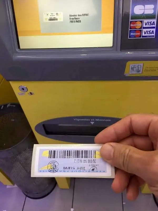 フランスからの郵便送り方自動販売機の使い方2019
