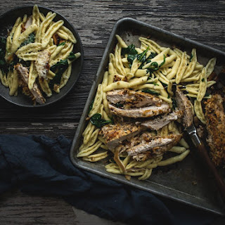 Parmesan Crusted Chicken With Pasta Recipes