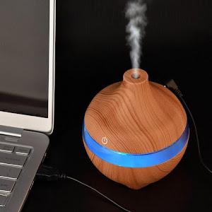 Difuzor de aromaterapie, 7 culori ambientale, capacitate 300 ml