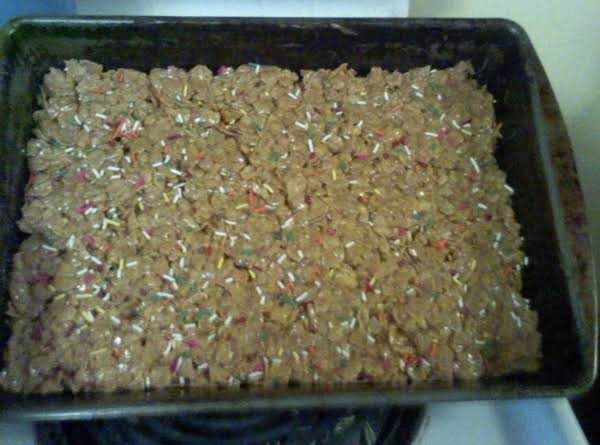 Peanut Butter Corn Flake Bars With Sprinkles Recipe