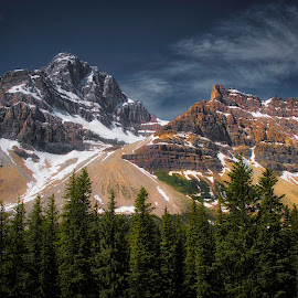 Mountain View by Ron Biedenbach - Landscapes Mountains & Hills ( mountains, snow, trees, wildreness, landscape )