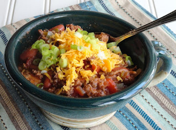 Chili  Simple And Meaty   Aka:  Pancho's Ancho Recipe